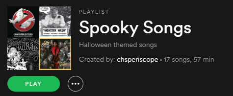 Spooky Songs (Playlist)