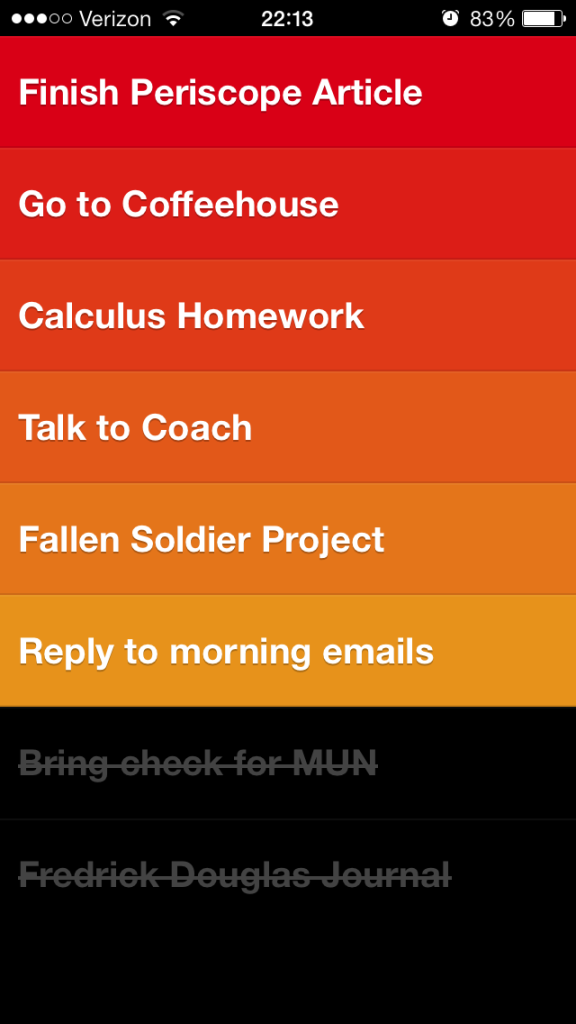 Clear's straightforward design makes it easy to stay on top of to-do lists.