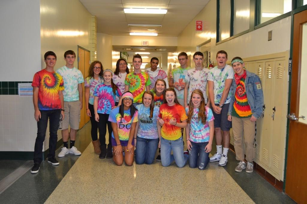 Last years spirit week included a tie-dye day.  Check out our story for this years theme days and events!