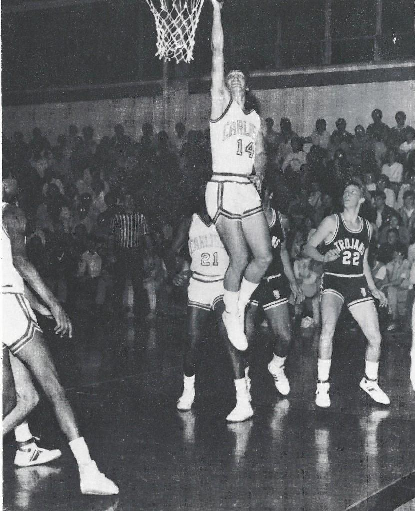 Jeff Lebo goes up for a layup during his 1985 season with the Carlisle Thundering Herd.