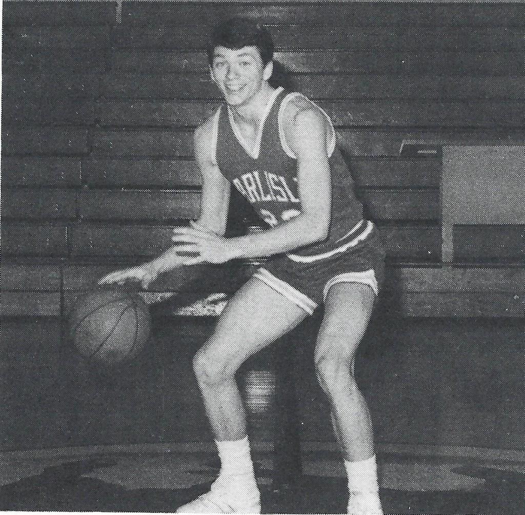 Paul Blackburn's senior year basketball picture during the 1985-1986 season.