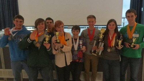 The CHS Academic Decathlon team won dozens of medals at their regional competition.