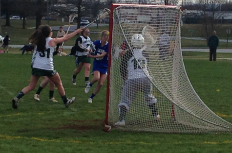 Both boys and girls lacrosse teams are having very strong seasons.  In the photo above, Lady Herd members Alexa Seras and Taylor Shughart stopped Lower Dauphin from scoring.