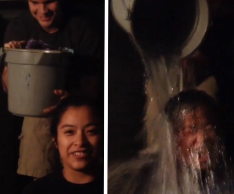 Besides just participating in the ALS ice bucket challenge, most people offered to donate a dollar for every