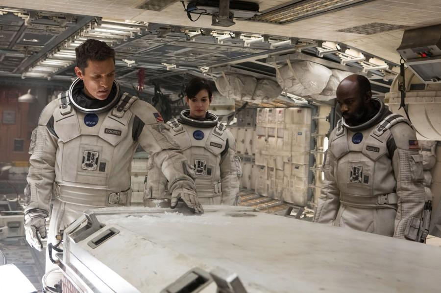 Matthew McConaughey and Anne Hathaway star as space explorers on a mission to find mankind a new home.