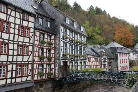 A street like this one in Monschau, Germany can really demonstrate just how different life can look when living overseas.