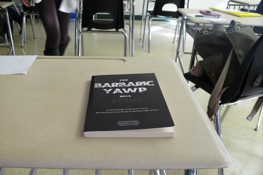 Seen here is a previous year's addition of YAWP, one of two creative writing publications at CHS.