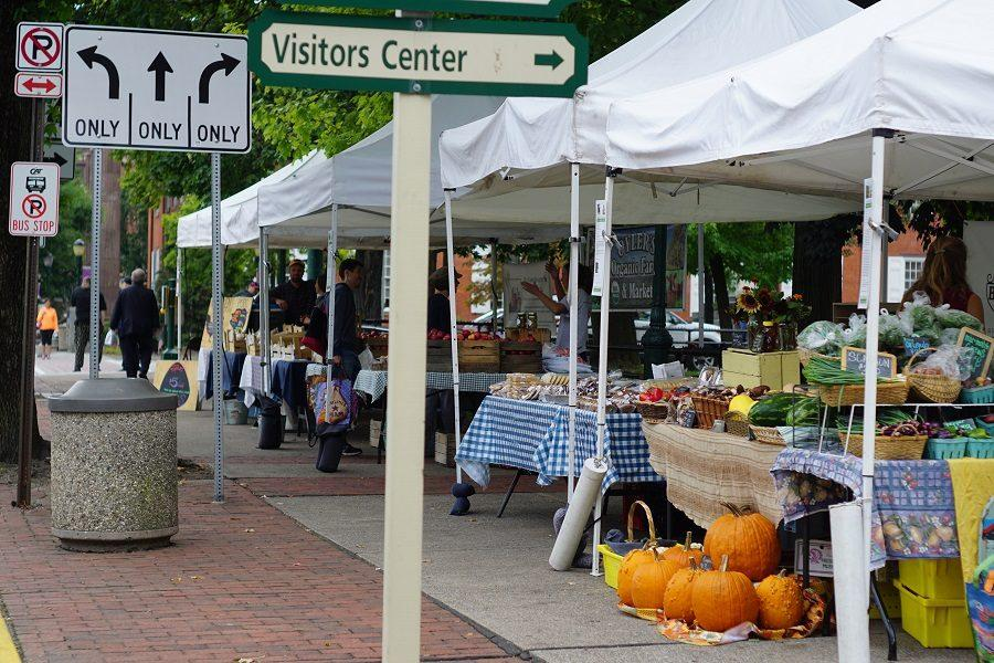 The market is ready for the fall season with the selling of pumpkins.