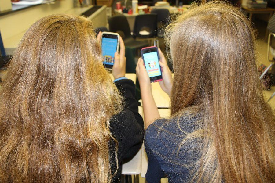 Two CHS students explore the new app