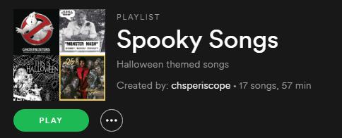 Spooky Songs (Playlist)