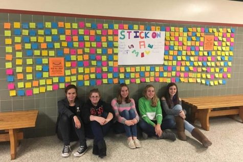 Smiling from sticky note to students: new campaign encourages CHS students