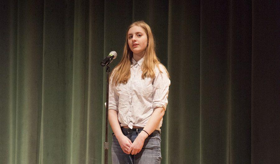 Ava Wendelken recites