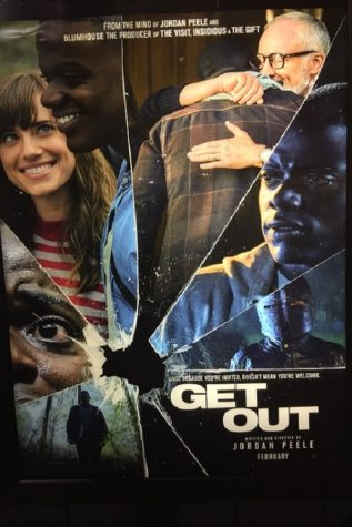 The movie poster for Get Out (2017) at the RC Theaters Carlisle Commons 8