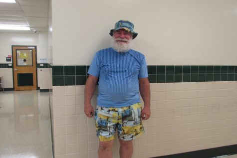 Physics teacher Robert Barrick dressed up for the theme. Many teachers enjoyed getting into the spirit.