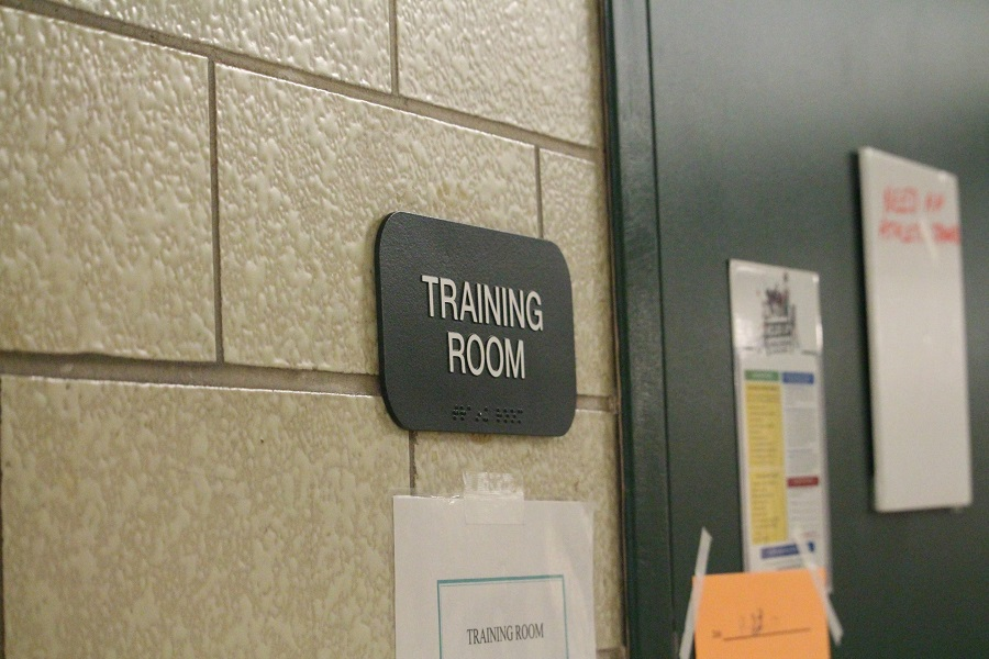 Entrance+to+the+athletic+training+room+at+CHS.+The+trainers+are+very+important+to+the+athletic+program+at+CHS.