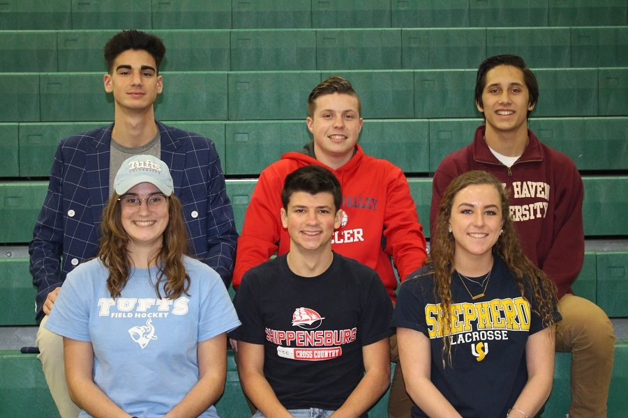 Six Carlisle High School seniors stated their commitment to play at the college level.