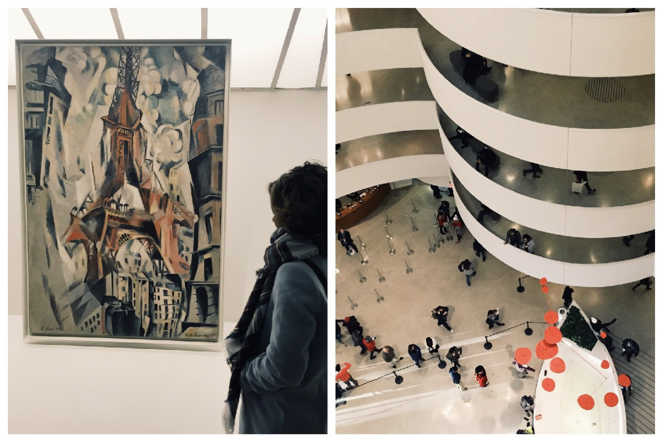 Some of the artwork found at the Guggenheim Museum. The Guggenheim is one of the three museums students will visit on the trip.