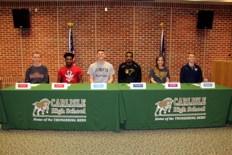 CHS held its final signing day of the year on April 11.  Today's six students makes a total of 14 for the year.