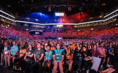 Overwatch League fans observe as the teams Philly Fusion and London Spitfire compete in the championships. There were many teams fighting throughout the eight month season, but only two made it this far.