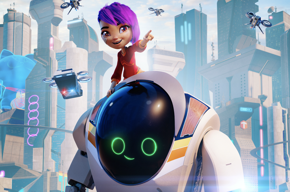 Mai and Project 7723 may be complete opposites, but they have been able to create a strong friendship.  'Next Gen' is a futuristic, adventurous  animated movie