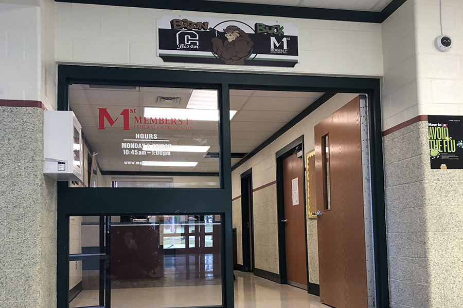 Prior to Dec 17, Carlisle High School had a branch of Members 1st, called the Bison Buck. Although this branch will no longer be operational, students will continue to participate in educational programs with the federal credit union.