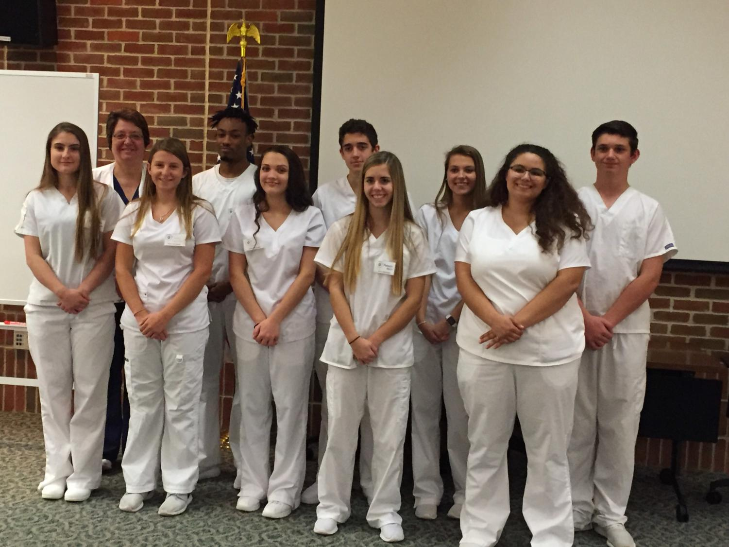 Students from Carlisle, Big Spring, and West Perry Area School Districts graduated from the Certified Nurse Aide (CNA) recognition in a ceremony held at the Carlisle High School.  The following Carlisle students were among the Fall 2018 graduates:  Sydney Overmiller, Jamal Spells, Casey Casteel,  Max Bethtel, Armela Ferhatovic