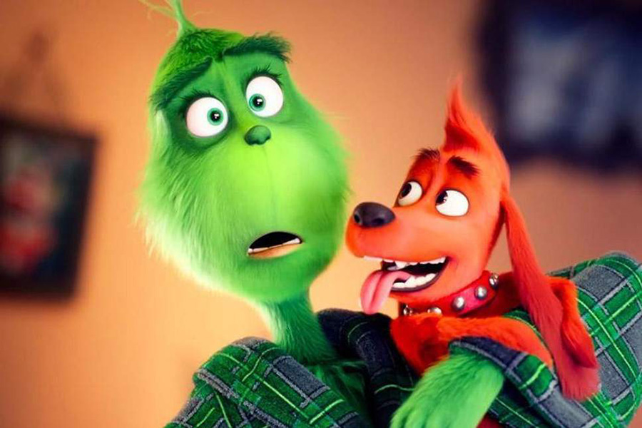 The Grinch's dog, Max is seen as his best friend throughout the film.  The new Grinch movie hit theaters November 9.