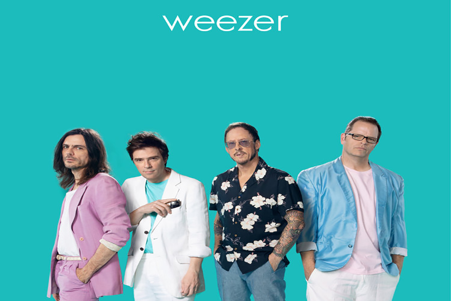 Weezer's new album contained only covers to pay tribute to memorable rock songs.  While each album they produced is titled 'Weezer' the albums are each a different color which becomes the way they are most known by.