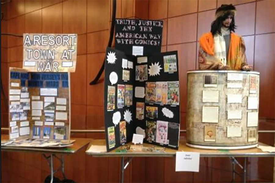 Two+exhibits+are+displayed+at+the+Regional+History+Day+competition.