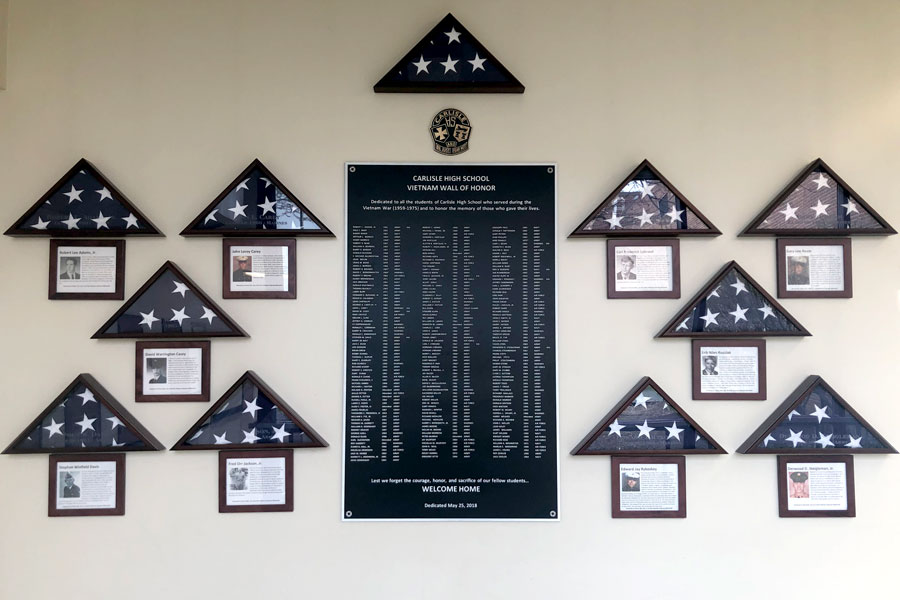 The CHS Vietnam Wall of Honor can be seen in the photo above.  Forms of protection are essential to our society's well-being and success and the individuals that serve deserve recognition for doing so.