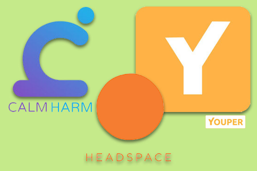 Calmharm, Youper, and Headspace are three apps that can help to improve your day to day life and mental health awareness.