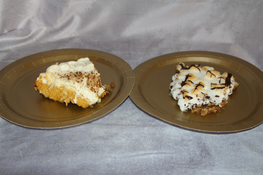 Both of these lovely slices of pie are from Pie Haus, located in Carlisle, PA. The one on the left is a pumpkin mousse and the one on the right is a s'mores pie. Your mouth will water when you see them.