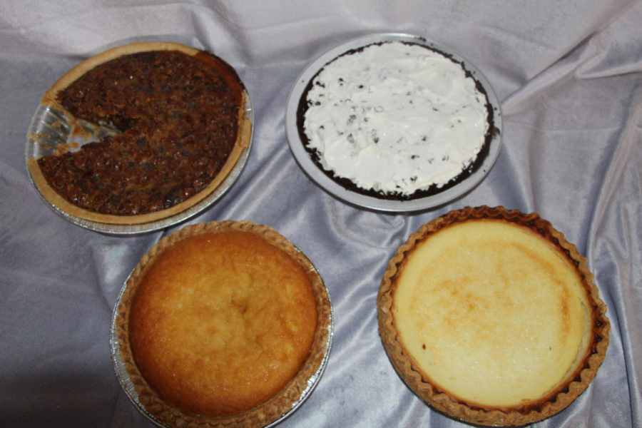 These are some close ups of the tops of some of the pies.