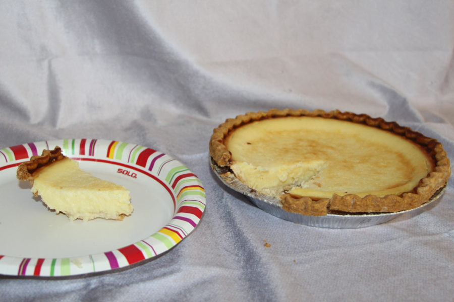 This is an egg custard pie from Giant food stores in Carlisle, PA. This pie is very light and soft. The egg mixes well with the custard.