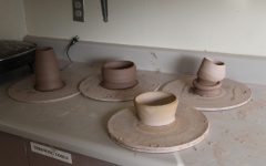 These are some pots that are ready to be fired. Next will be to glaze.
