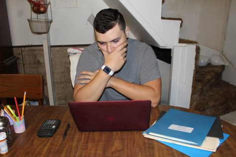 A student works late into the night to finish homework, in order to it to be done on time.  The school district does not have a standard late policy, which can cause the students frustration of having different expectations in each class.